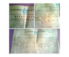 6 db régi,értékes okmány,-papírrégiség