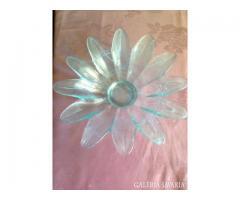 Virágszirom alakú üveg tál
