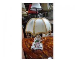 Üveg asztali lámpa
