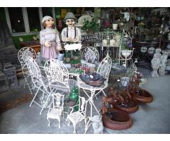 Tolerián Antiknál nagy választékban kaphatók fém kerti bútorok kiegészítők