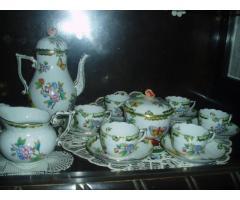 Herendi Viktória-mintás dupla kávéskészlet (mokkáskészlet)