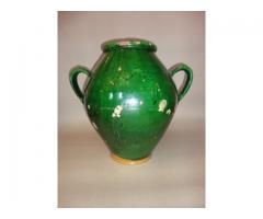 Zöld nagy 2-fülű kerámia köcsög