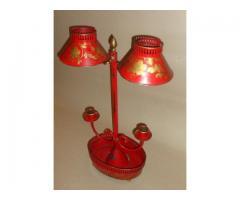 Biedermeier lámpaernyős gyertyatartó