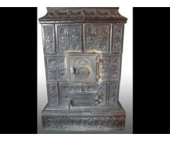 3014 Antik díszes cserépkályha 1850 körüli