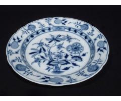 5145 Antik ELBOGEN porcelán kerek kínáló tál