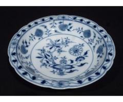 5144 Antik ELBOGEN porcelán talpas kínáló tál