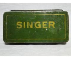 0487 Antik SINGER 15 fémdoboz pléh doboz