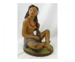 6176 Gondos József art deco kerámia Haiti lány
