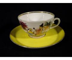 V304 Antik porcelán kínai teáscsésze 1900 körüli