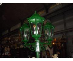 Háromágú zöld alumínium kandeláber