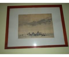 Weintrager Adolf- Kora hajnalban akvarell