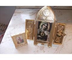 Antik utazó asztali oltár szentképpel eladó!
