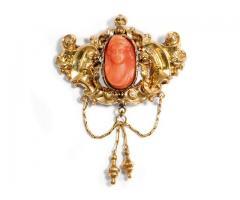 Antik bross 1845-bol 585 arany egyedi darab