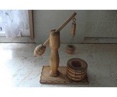 Antik fából faragott gémeskút eladó!