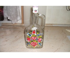 Festett 1,5 literes díszüveg eladó!