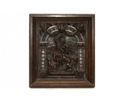 Ó-szövetségi jelenet, fa relief