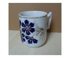 Kék virágos bögre
