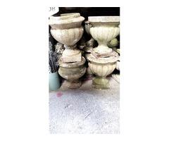 Régi műkő váza több féle