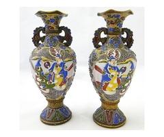 6062 Antik Satsuma váza pár