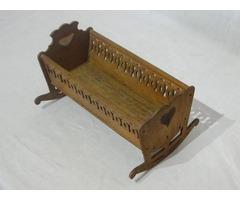 6134 Antik szegedi feliratos asztalos munka