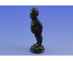 5666 Régi kisméretű bronz szobor pecsétnyomó 5 cm