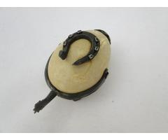 5680 Antik különleges kovácsoltvas patkolt tojás
