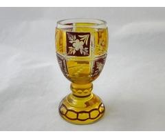 N276 Régi biedermeier színezett pohár