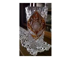 Gyönyörű metszett kristály váza