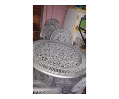 Alu kerti garnitúra 1 db asztal + 6 db szék