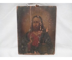 3370 Antik ikon Jézus képmása