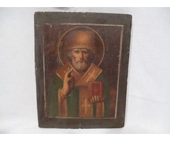 3375 Antik festett ikon kép szentkép XX. század