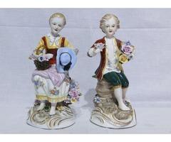 6556 Kardos Meisseni porcelán szobor pár