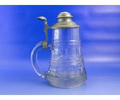 6999 Antik fedeles porcelán betétes söröskupa
