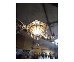 Különleges hatszögletű mennyezeti lámpa