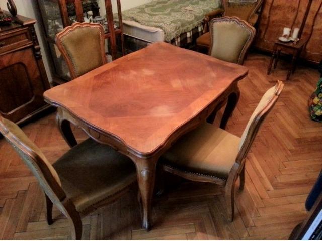 Neobarokk ebédlő asztal, 4 szék XII. kerület AntikPiac.hu