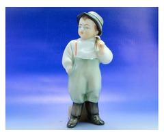 0B185 Régi Zsolnay porcelán vízhordó kisfiú figura