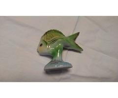 Hollóházi hal szobor