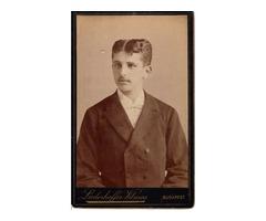 Fotó, vizitkártya (1890-es évek) – a századforduló Tindere