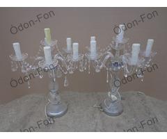 Üveg antik lámpa pár