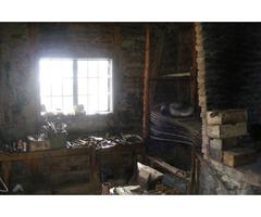 Fújtató kovácsműhelyből és kovácsműhely