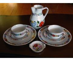 Kalocsai porcelán készlet nyolc darabos