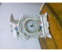 Német porcelán, gyönyörű,működó óra