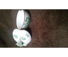 Ritka Herendi porcelán szív alakú bonbonier Eredeti !