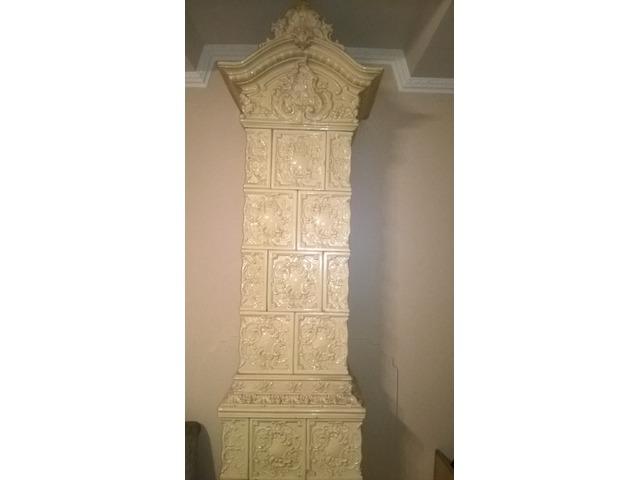 antik koronás cserépkályha