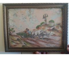 Antik rézkarc kép eladó
