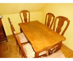 Neobarokk étkezőasztal  székekkel