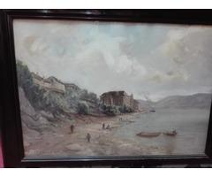 Carl Kaiser-Herbst akvarell festmèny