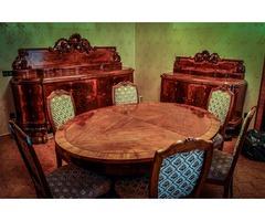Intarziás Neobarokk Ébédlő Bútorgarnitúra
