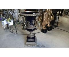 Különleges nagyméretű bronz porcelán váza