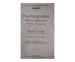 Ritkaság! Siklós Albert Összhangzattan 1928.